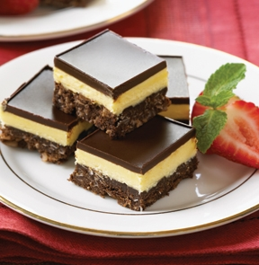Nanaimo Bar Recipe from Real Restaurant Recipes is a Famous Dessert ...