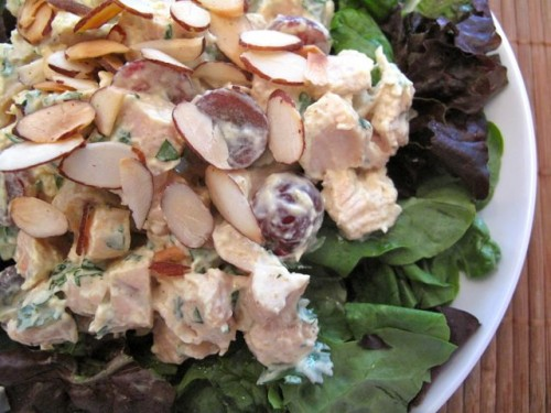 ... almond chicken salad add chicken red onion asian almond chicken salad