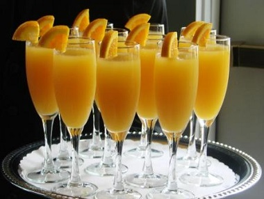 Mimosa recipe several mimosas from real restaurant recipes for Cocktail mimosa