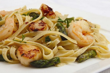 how to cook scallops for pasta