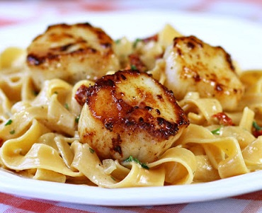 Scallop Pasta Recipe Is A Favorite Real Restaurant Seafood Pasta Recipe